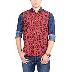 Allen Solly Men's Comfort Fit Cotton Shirt [24831_Red_44]
