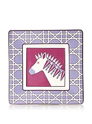 Happy Chic by Jonathan Adler Chloe Zebra Trinket Tray, Purple Multi