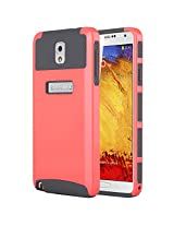 Note 3 Case, Galaxy Note 3 Case ULAK Galaxy Note 3 Case 2in1 Hybrid Case Fashion TPU + PC 2-Piece Style Heavy Duty Protection Slim Hard Case Cover for Samsung Galaxy Note 3 N9000 (Coral Pink/Gray)
