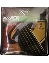 KAPS K11-SL SUPER LIGHT IMPORTED ACOUSTIC GUITAR STRINGS STAINLESS STEEL COPPER ALLOY WOUND SET OF 6 STRINGS by SG Musical
