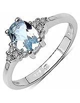 Johareez Aquamarine Silver Ring