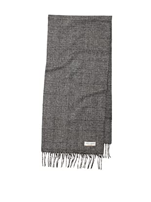 Joseph Abboud Men's Glen Plaid Scarf (Black/Grey)