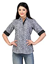 Lifestyle Retail Womens Cotton Tunic Kurta (Lsm-040-7252-Xl _Grey _40)