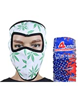 Jstarmart White Designed Face Mask Combo 9 in 1 Bandana