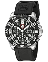 Luminox Men's 3181 Steel Colormark Black Silicone Watch