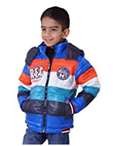 LITTLE BUGS Boy's Full Sleeve Nylon Jacket -Royal