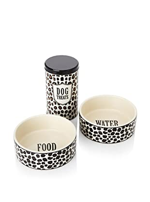 Harry Barker Set of 2 Food Bowls with Treat Tin (Leopard)