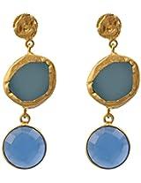 Zariin Drop Earrings for Women (Blue) (EPS201LBLBLCH)