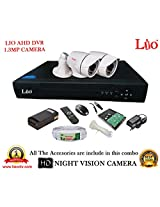 AHD LIO 4CH DVR + AHD 1.3 Megapixel High Resolution LIO 36IR BULLET CAMERA 2pcs + 1 TB WD HDD + CABLE 3+1 COPPER + POWER SUPPLY (FULL COMBO)