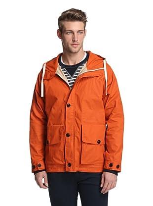 Todd Snyder Men's Plain Weave Marine Zip Up Jacket (Orange)