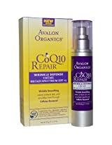 Avalon Organics CoQ10 Wrinkle Defense Creme with SPF 15, 51ml
