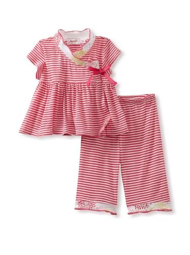 Jupon Baby Adele Kimono & Pants Set (Pink)