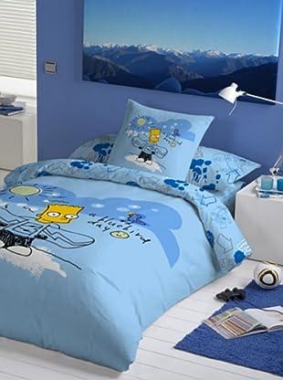 Euromoda Licencias Juego de Funda Nórdica Snow Bart (Azul)