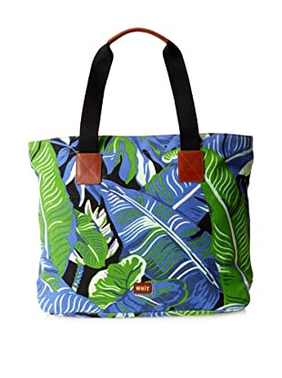 WHIT Women's Banana Leaf Tote Bag, Blue Multi, One Size