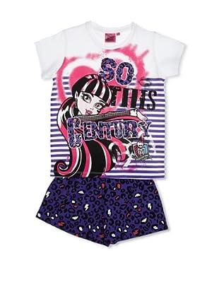 Licencias Pijama Monster High (Blanco / Morado)