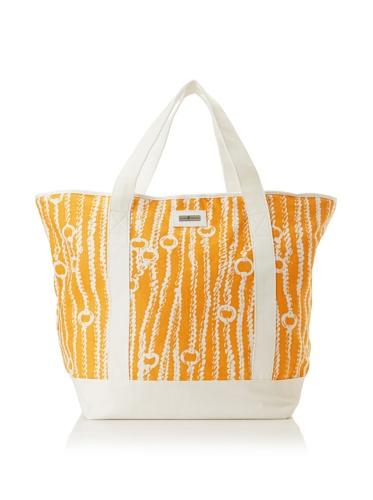 Julie Brown Medium Tote Bag with Cooler Lining (Orange Chains)