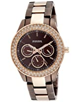 Fossil End-of-season Stella Analog Brown Dial Women's Watch - ES2955