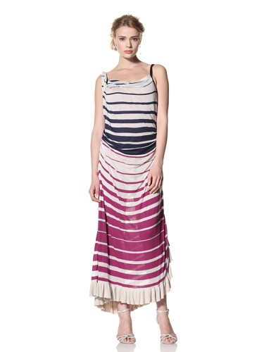 Byron Lars Women's Nautical Stripe Maxi-Dress (Magenta)