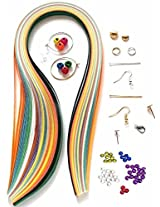 Naarilok 30PCS Quilling Kit - 8 Tools 10 Strips & 12 Jewellery making accessories Kit