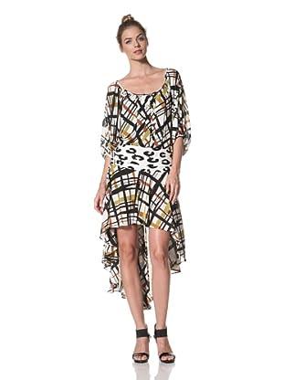 Norma Kamali Women's High Low Skirt (Plaid)