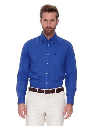 Cortefiel Camisa Lino Ppt (Azul Medio)