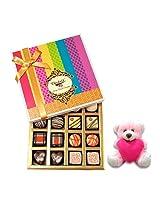 Sweet Choco Friendship Desire With Teddy - Chocholik Belgium Chocolates