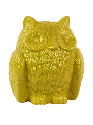 Ceramic Owl, Yellow
