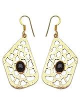 Silver Selection Glass Brass Earrings