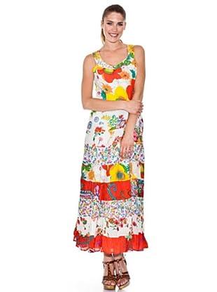 Peace & Love Vestido Estampado (Multicolor)