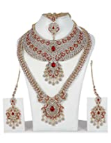 Exclusive Beautiful Royal Look Charming Full Bridal Necklace Set Wedding Jewelry