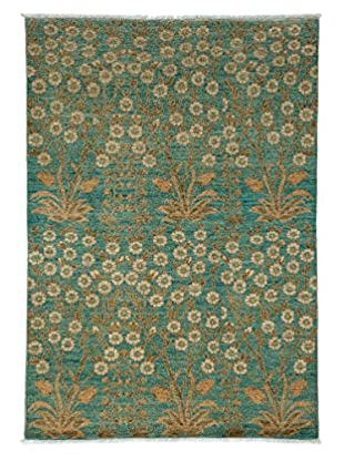 Darya Rugs Fine Modern Oriental Rug, Light Blue, 4' 2
