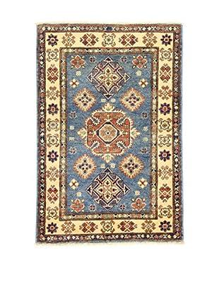L'EDEN DEL TAPPETO Alfombra Uzebekistan Azul/Multicolor 81 x 121 cm