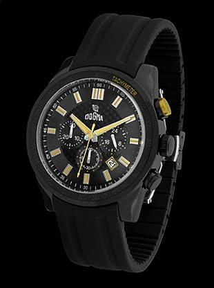 Dogma CRONO294 - Reloj de Caballero movimiento de quarzo con correa de caucho amarillo
