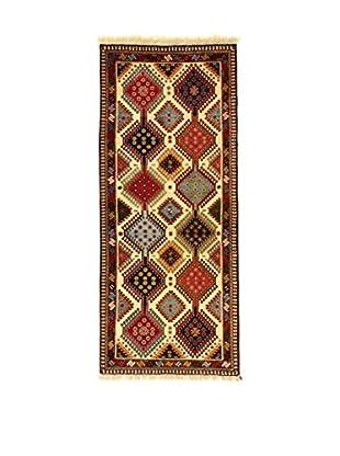 L'Eden del Tappeto Teppich Yalameh beige/mehrfarbig 198t x t85 cm