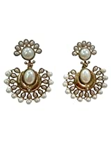 Ethnic Designer Chandbali Earring With Pearl Brass Material 6.5cm