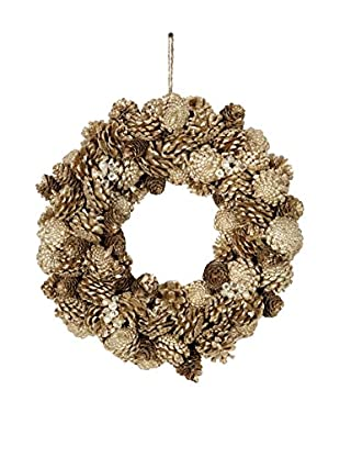 Sage & Co. Medium Pine Cone Jewel Glittered Wreath