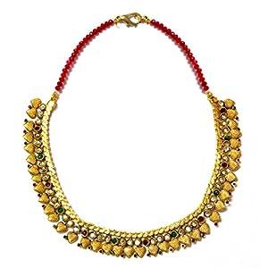 Daamak Jewellery Alluring Choker Necklace -Red