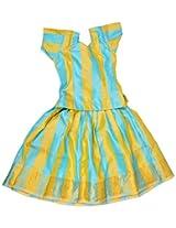 Indrani Baby Girls' Silk Lehanga Choli (Multi Color, 0 - 18 Months)