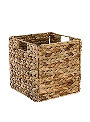 Organize It All Single KD Water Hyacinth Basket, Light Brown