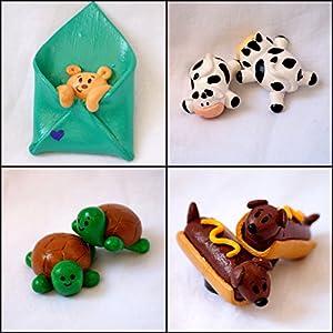 PinkFeather Cute Animal Fridge Magnets - Set Of 4