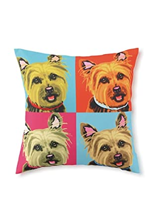 Woofhol Yorkie Pillow