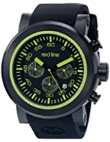 red line Men's RL-50050-BB-01-GRNA Torque Sport Analog Display Japanese Quartz Black Watch