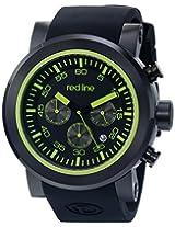 red line Men's RL-50050-BB-01-GRNA Torque Sport Analog Display Japanese Quartz Black Watch