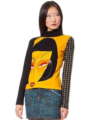 Custo Camiseta Bran (Negro / Amarillo)