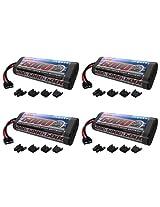 Venom 7.2V 5000mAh 6-Cell NiMH Battery with Universal Plug (EC3/Deans/Traxxas/Tamiya) x4 Packs
