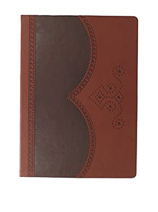 Ted Baker Brown Large Brogue Notebook