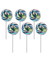 "Kandee Swirl Pop Blueberry Blast 2.25"" Round (Pack of 6 Natural Colour Candy Lollipops)"
