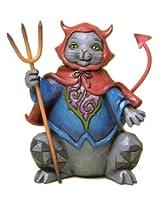 Jim Shore for Enesco Heartwood Creek Pint Sized Halloween Cat Figurine, 4.75-Inch