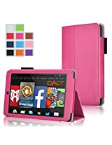 Fire HD 6 Case - Exact Amazon Kindle Fire HD 6 Case [PRO Series] - Premium PU Leather Folio Case for Amazon Kindle Fire HD 6 (2014) Hot Pink
