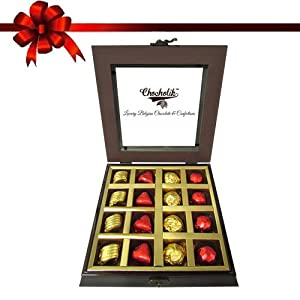 16pc Lovers Delight Chocolate Box - Chocholik Luxury Chocolates